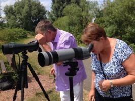 De telescopen waren erg in trek bij deelnemers